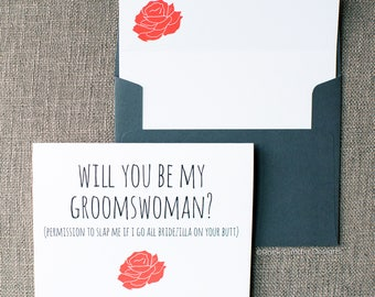 Floral Will You Be My Bridesmaid Bridezilla On Your Butt Card | Cute Way to Ask Your Maid of Honor | Ways to Ask Your Girls To Be in Wedding