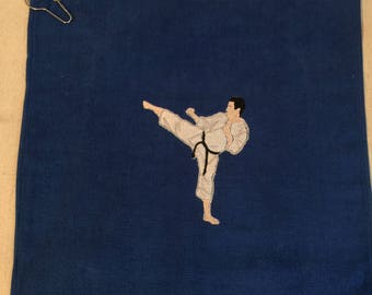 Embroidered Karate Towel with Grommet & Hook