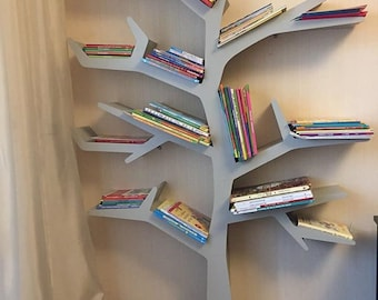 "Shelf for books and souvenirs in the form of ""Tree"", handmade."