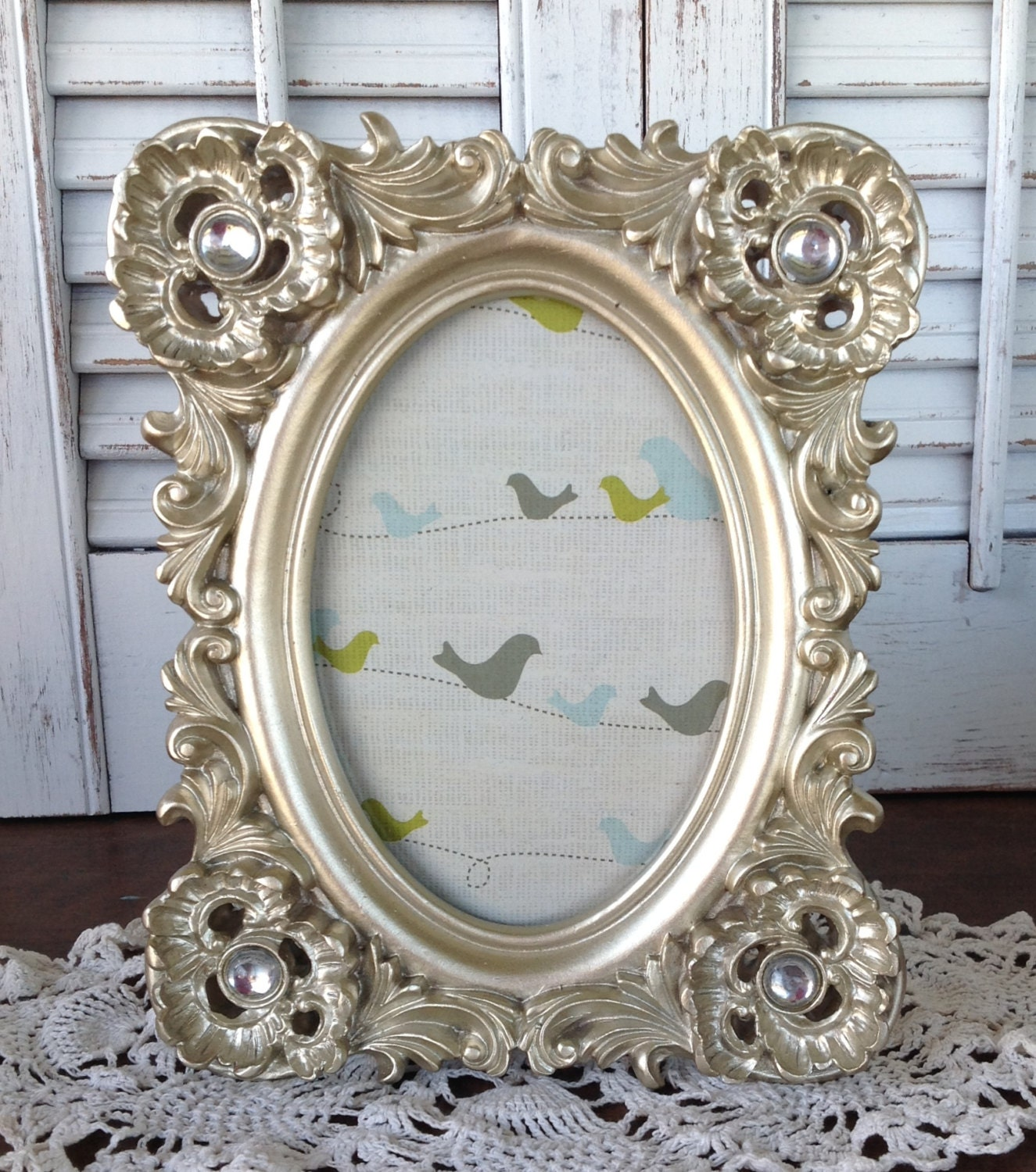 Soft Silver Birds & Bling Frames 8x10 4x6 - Set of 3 Eclectic ...
