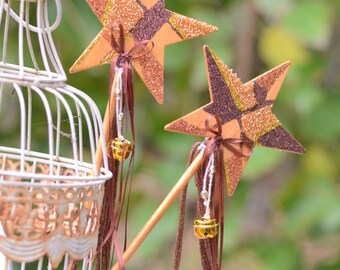 Bronze & Gold magical Fairy Wand