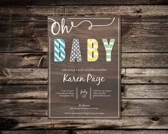Oh Baby | Flat Invitation