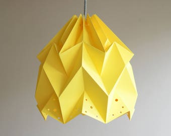 WAVE paper origami lampshade - yellow
