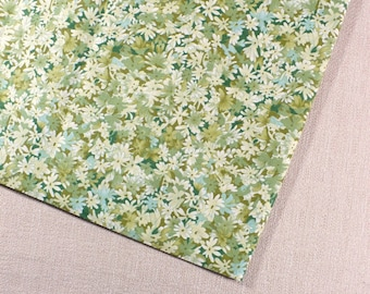 Charming floral print, Fabric, Greens, Quilting, 1/2 YARD, Cotton