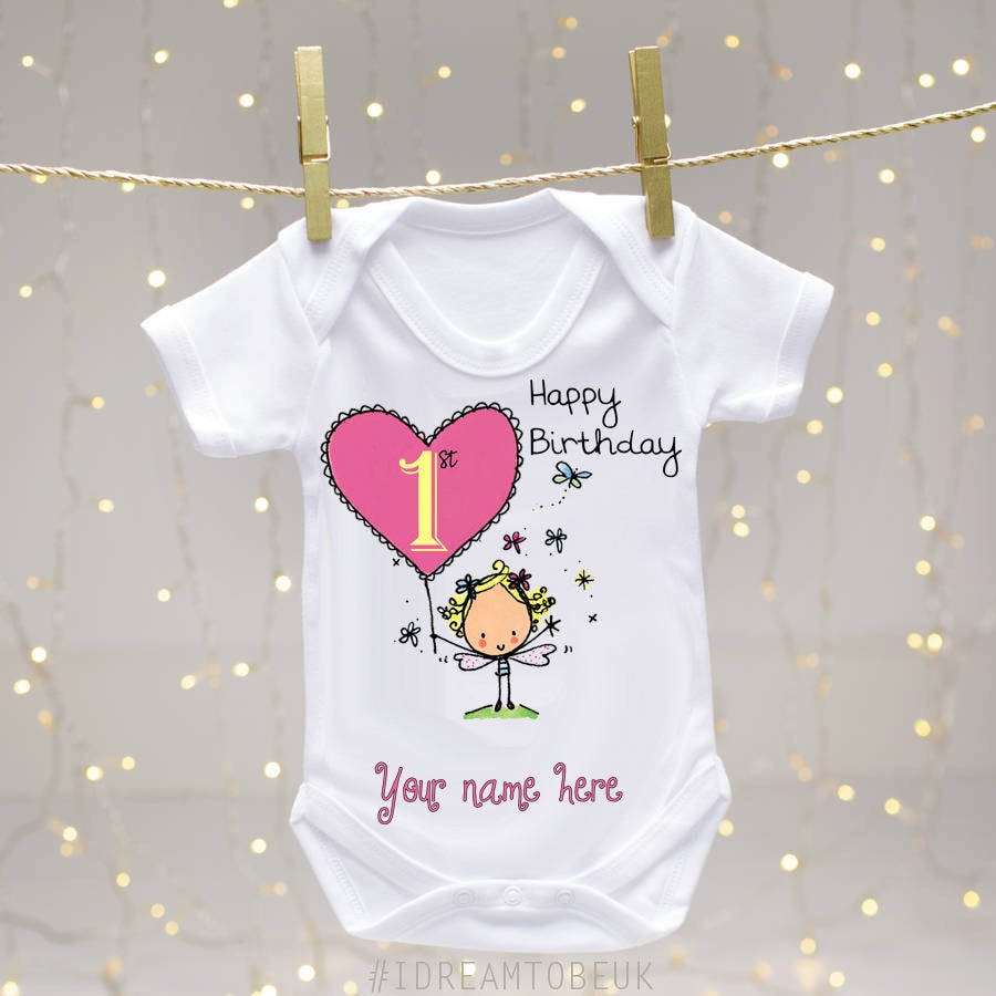 Personalised First Birthday Baby Vest Body Suit Baby Grow