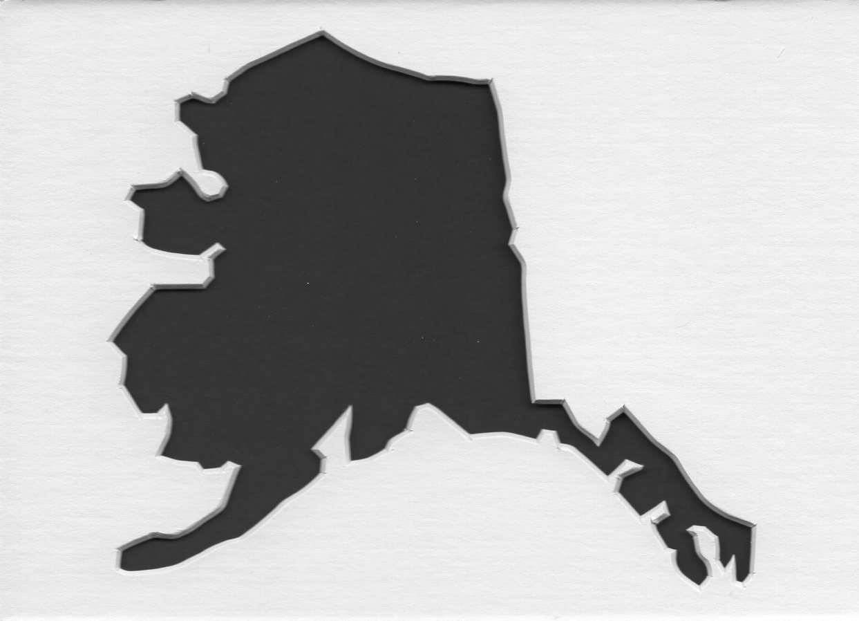 Alaska Stencil Made From 4 Ply Mat Board