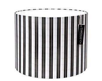 Drum Lamp Shade - Picasso Tower. Black and white lampshades urban picasso handmade lamp shade.