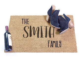 Personalized Doormat Mom Gift Custom Last Name Doormat Door Mat Custom Doormat Gift for Married Couple Unique Newly Wed