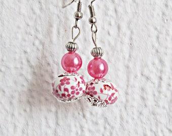 SAKURA earrings porcelain