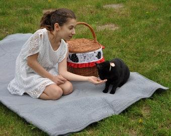 Cat lovers gift, cat gift ideas, gift for her, cat gift, animal lover gift, cat accessories, cat gifts, gift for cat lover, woven basket