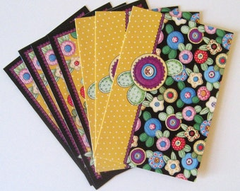 Set of 8 Button Notecards