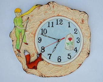 The Little Prince wall clock Hand painted wall clock