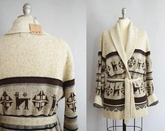 1970s Belted Cardigan   Medium-Large
