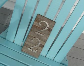HOUSE NUMBERS rustic pallet wood