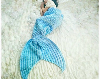 Crochet Pattern Only - Emma-Noel Mermaid Tail Cocoon
