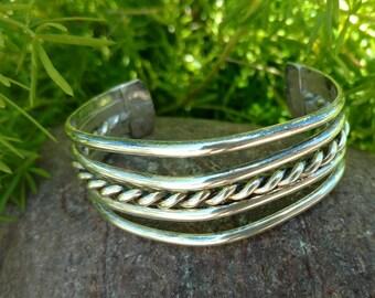 Sterling silver cuff bracelet vintage, cuff bracelet, sterling silver Western bracelet, bangle bracelet, silver Jewelry, sterling, Vintage