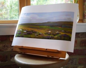 Signed Print- Dartmoor 29.7 x 42.0cm