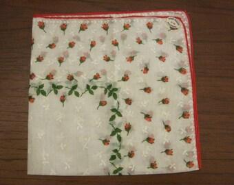 Rosebud themed handkerchief