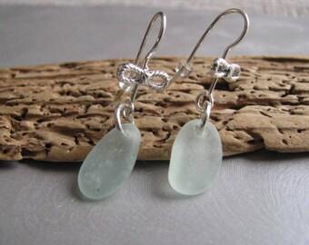 Sea Glass  Earrings - Unique Jewelry - Beach Glass Earrings - Seafoam Sea Glass - Prince Edward Island Pure Sea Glass - Ocean Jewelry Gifts
