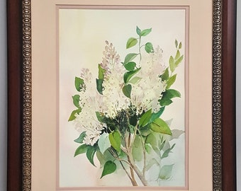 An original watercolor painting signed by the artist