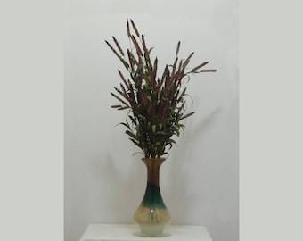Large Floral Arrangement, Tall Arrangement, Cattail Spray, Unique Vase, Living Room Decor, Multicolored Vase, Large Arrangement, Centerpiece