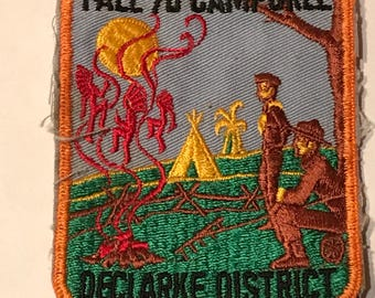 Vintage Boy Scouts of America Declarke District Fall Camporee 1970's