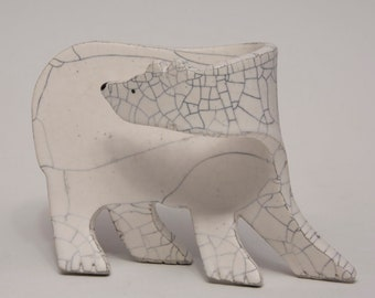 Ceramic Polar Bear - Sculpture