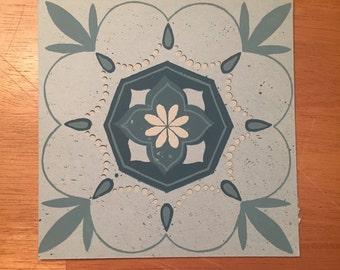 Small Mandala Design Screen Print