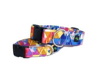 Designer dog collar,dog , multicolor ,geometric dog collar , designer collar,fier pet, collar, collar,adjustable collar,fier-pet
