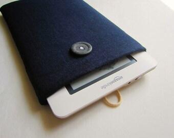 Kindle Sleeve Case (padded) - Blue Linen