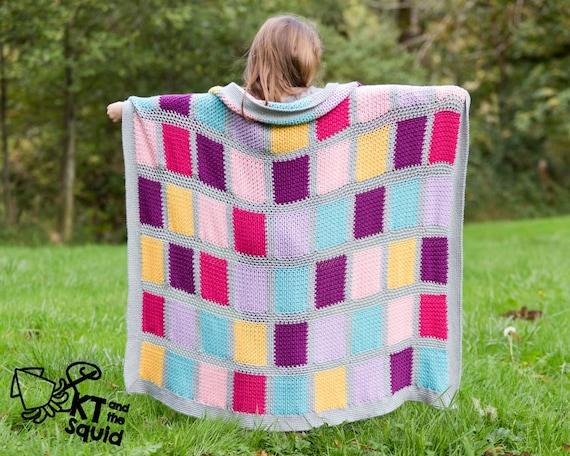 Crochet Afghan Pattern Seamless Squares Crochet Throw Patten Easy