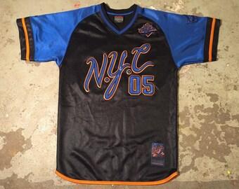 FUBU jersey, Fubu City Series, NYC shirt, vintage New York t-shirt 90s hip-hop clothing, 1990s hip hop, gangsta rap, size M Medium