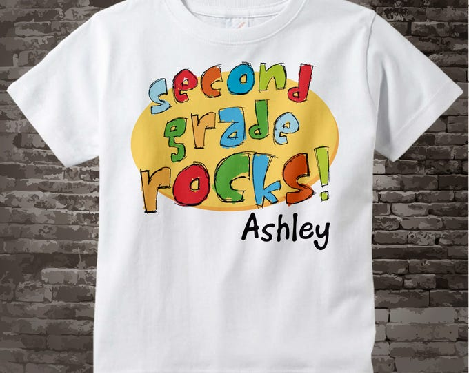 Second Grade Rocks Shirt, Personalized 2nd Grade Shirt, Second Grade Rocks Shirt Child's Back To School - Second Grade Teacher 07302012b