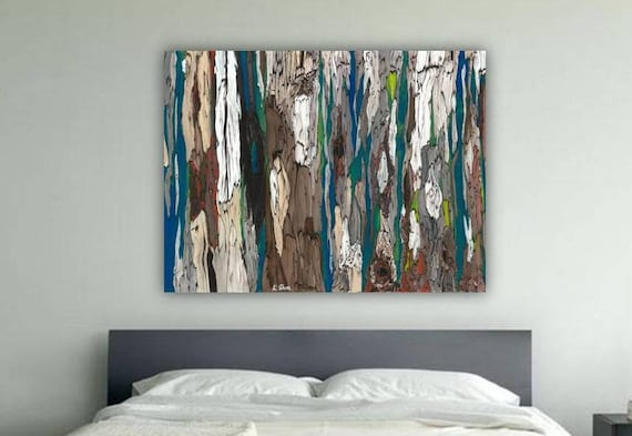 Brown And Teal Wall Art