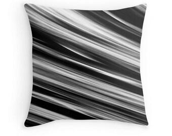 Black White Pillow Case, Black White Pillow Cover, Black White Cushion, Black White Toss Pillow, Black White Throw Pillow, Black Bedding