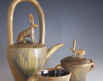 Jack Rabbit Teapot Set