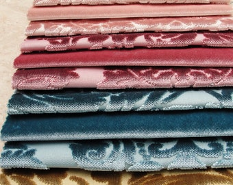 Velvet Fabric Catalog for Patchwork and quilts 26 pieces