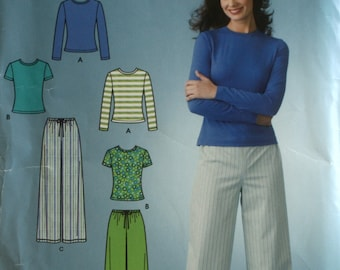 Misses Pants Sewing Pattern - Misses Top Sewing Pattern - Simplicity 4023 - New - Uncut - Size 8 - 10 - 12 - 14 - 16 - 18