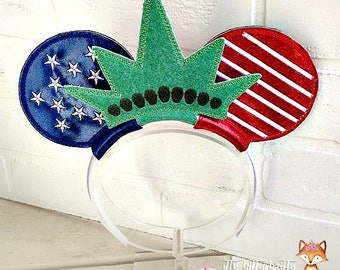 4th of July Mouse Ears, Statue of Liberty Mouse Ears, American Flag Mouse Ears