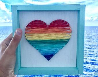 Ombre string art heart