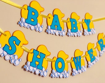 Baby shower Rubber Duck sign and small message cards