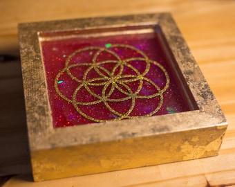 Sacred Geometry Resin Artwork