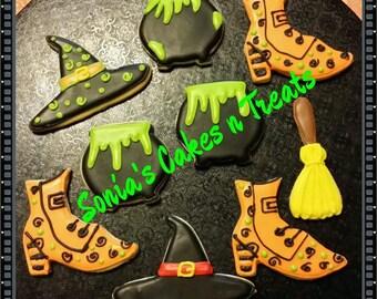 Halloween Decorated Sugar Cookies  1 dz