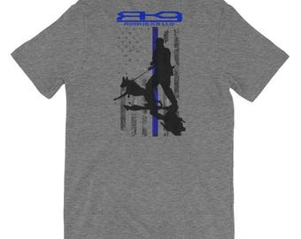 K9 * Thin Blue Line Short-Sleeve Unisex T-Shirt