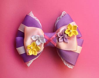 Rapunzel Tangled Inspired Hair Bow