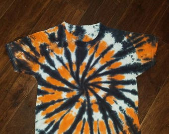Halloween CLEARANCE! tie dye tshirt youth small youth large tie dye shirt orange black spiral boy/girl Halloween shirt S or L READY to SHIP!