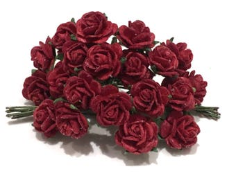 Deep Red Open Roses Or127
