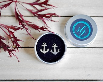 Sterling Silver Anchor Earrings | Anchor Studs | Silver Anchor | Anchor Jewellery | Anchor Jewelry | Hypoallergenic | Nautical earrings