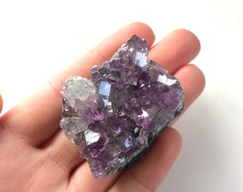 Amethyst cluster point purple from brazil 1.5''