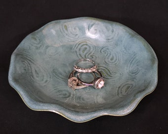 Sweet Little Trinket Dish/Bowl with Paisley